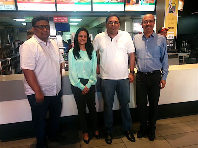 L-R: Kunal Shah, co-founder & CEO FreeCharge; Smitha Jatia, MD Westlife; Govind Rajan COO FreeCharge & Ranjith Paliath, Sr. VP. Business Operations, Westilfe